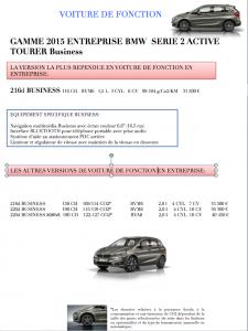 VOITURE DE FONCTION BMW SERIE 2 ACTIVE TOURER