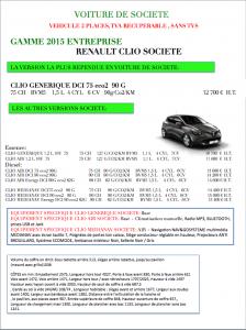 TOUTES LES CLIO SOCIETE 2015